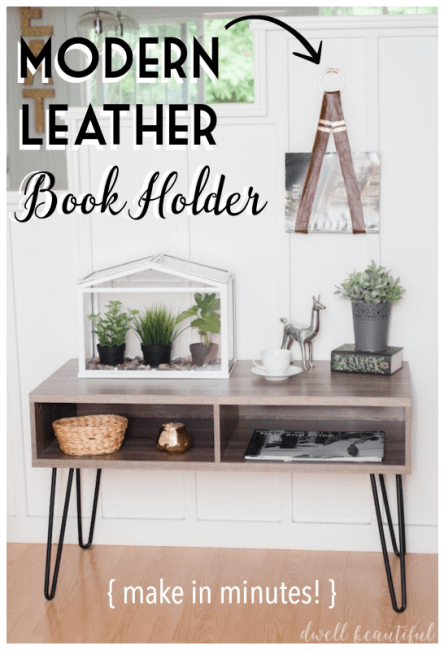 modern leather book holder