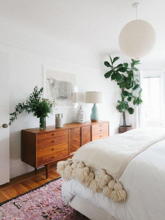 modern bohemian bedroom inspiration - dresser