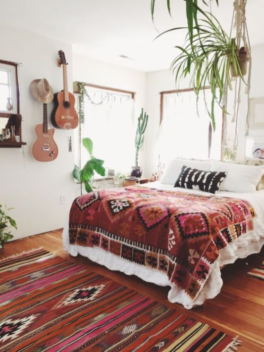 Modern Bohemian Bedroom Inspiration - Dwell Beautiful on Modern Bohemian Bedroom Decor  id=88752