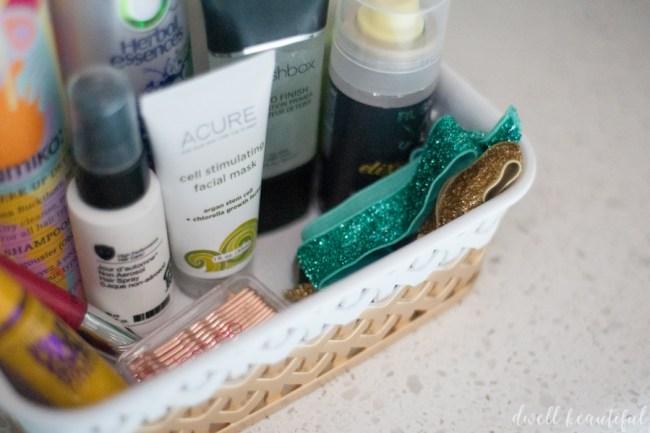 Dip-Dyed Makeup Organizer Makeover