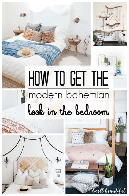 Modern Bohemian Bedroom Inspiration - Dwell Beautiful on Boho Modern Bedroom  id=68385