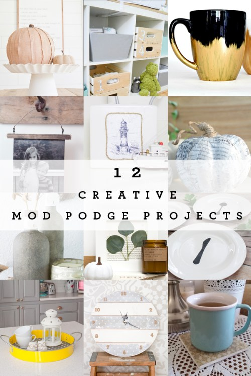 how to mod podge fabric onto metal monthly diy challenge