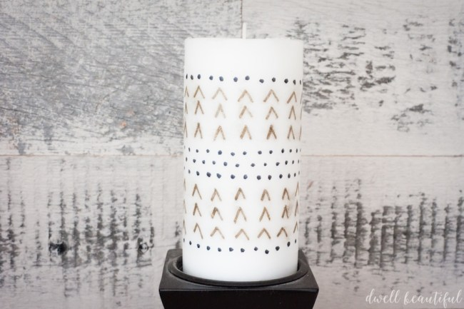 How to Make a Custom Candle with Sharpies