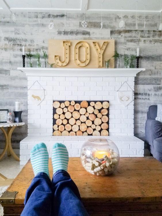 DIY Christmas Living Room