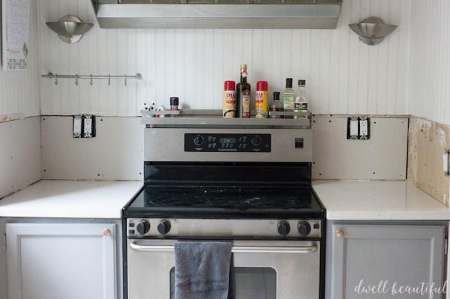 How to DIY a Subway Tile Kitchen Backsplash