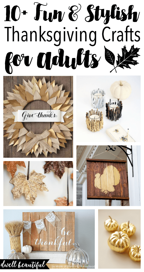 10 fun and stylish thanksgiving crafts for adults dwell beautiful. Black Bedroom Furniture Sets. Home Design Ideas