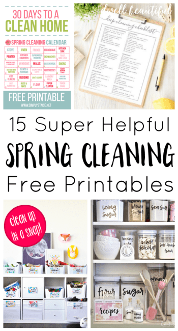 15 Helpful Spring Cleaning and Organization Printables