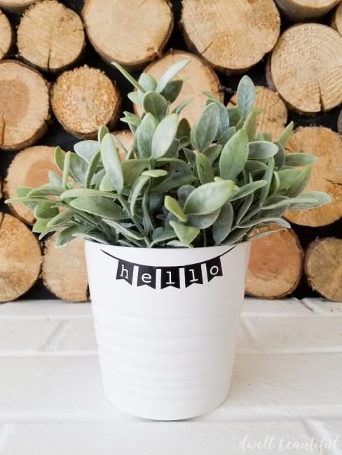 How to Make a DIY Hello Planter for Spring