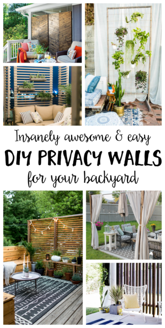 Awesome & Easy DIY Privacy Walls for Your Backyard