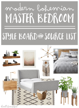 West Elm Master Bedroom Style Board and Source List