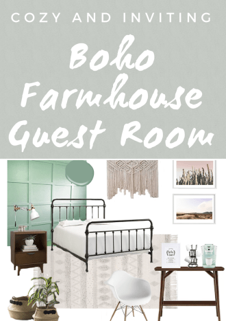 Cozy Boho Farmhouse Guest Room
