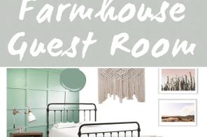 Cozy Boho Farmhouse Guest Room
