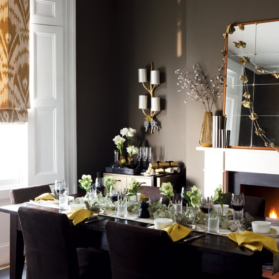 Christmas dining room table