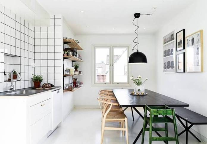 White-Scandinavian-Kitchen-Dinning-Room-Design
