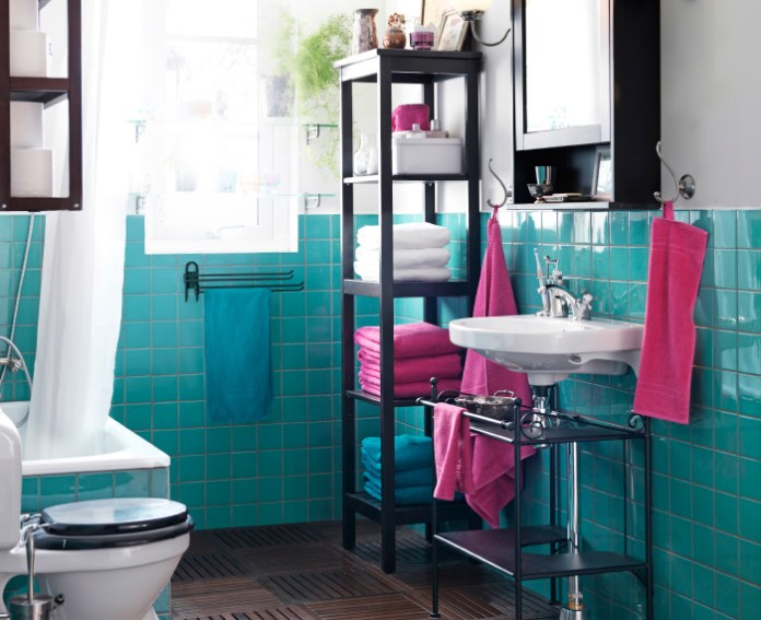 best blue small bathroom