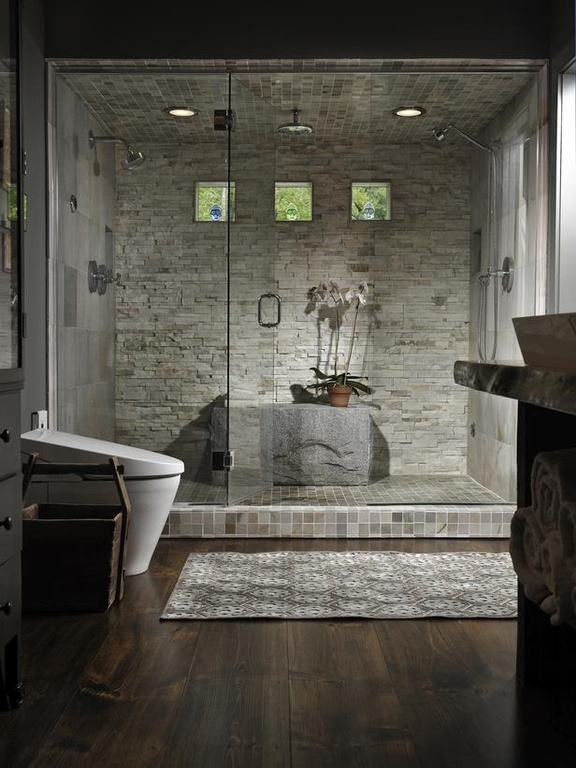 contemporary-master-bathroom-with-rain-shower-tile-shower-and-glass-wall