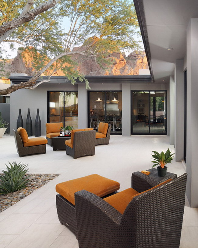 25 Amazing Modern Patio Design Ideas on Modern Backyard Patio Ideas  id=41753