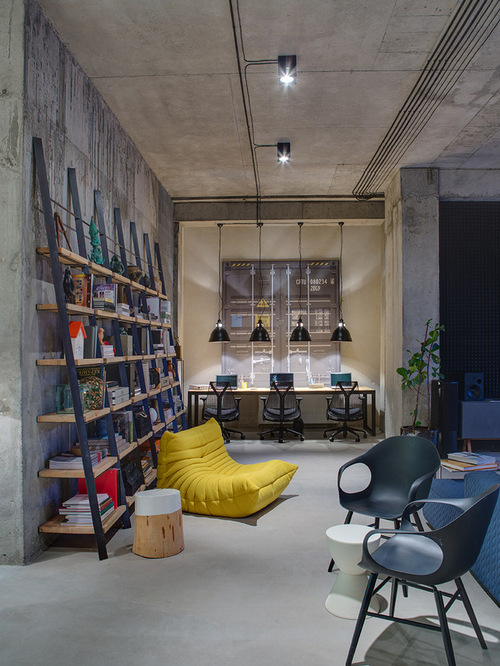 Industrial Home Office Design Photos