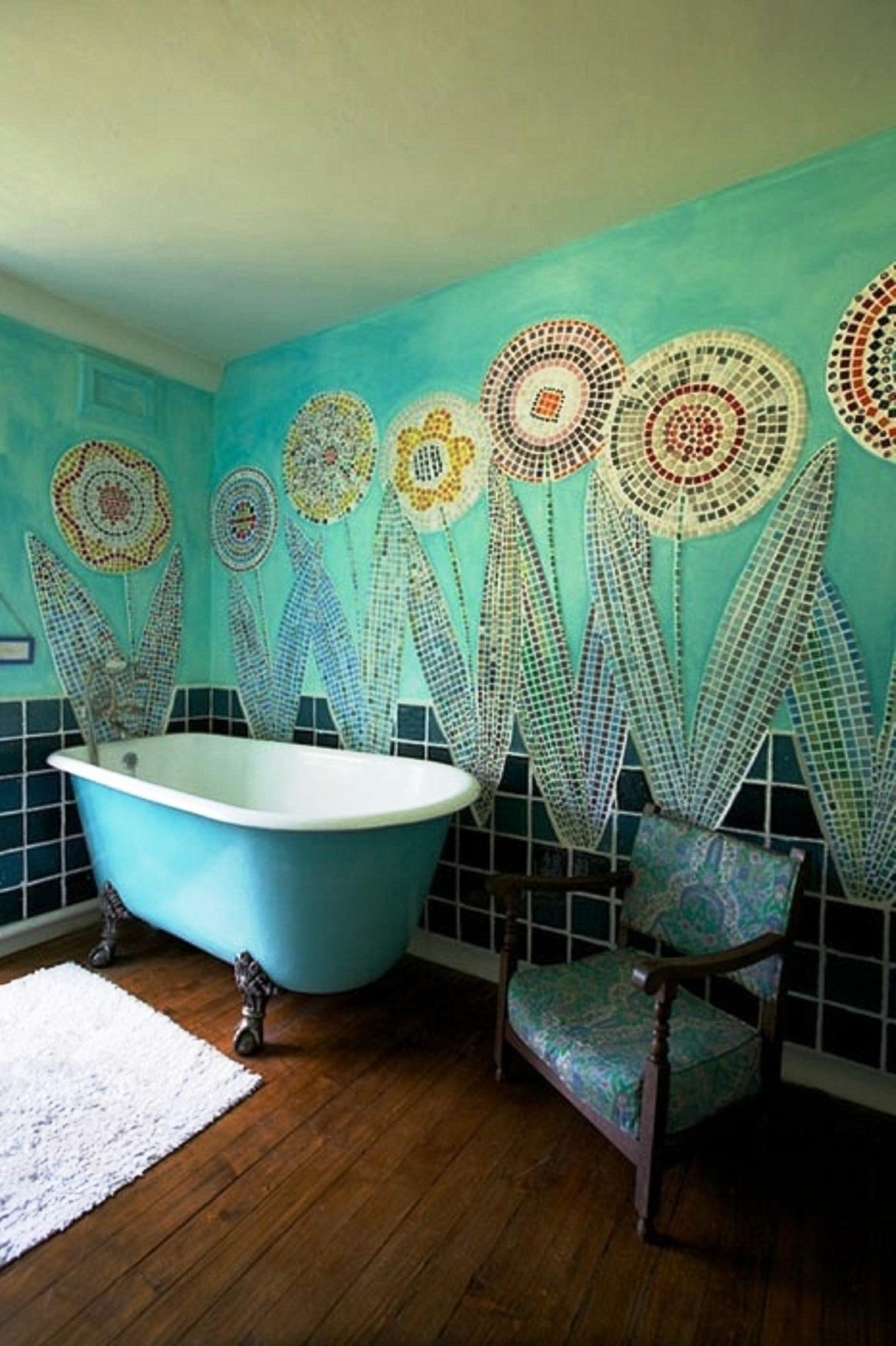 25 Awesome Bohemian Bathroom Design Inspirations