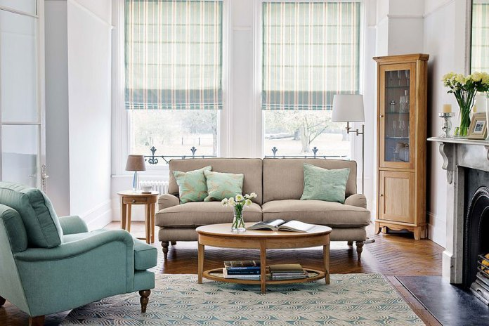living-room-design-and-green-sofas-with-brown-sofa