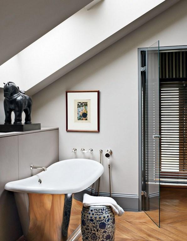 Attic Art Deco Bathroom