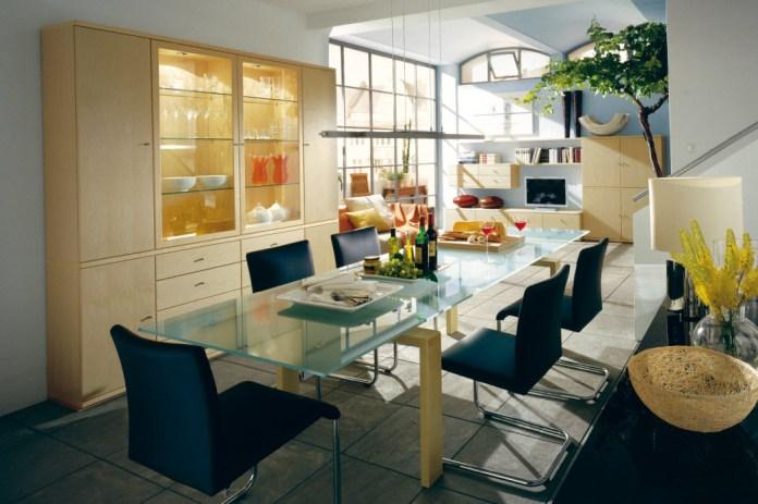 Blue Black Dining Room