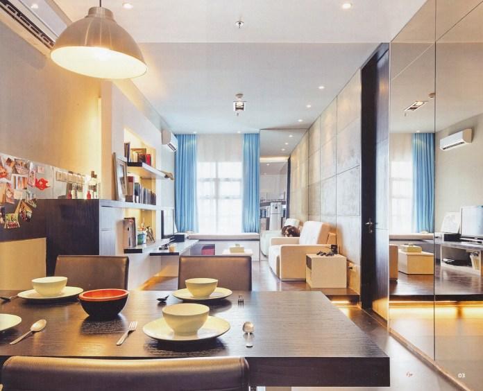 Charming Modern Studio Apartment Living Room
