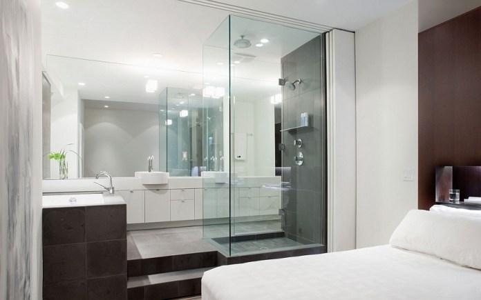 Glass-bathroom-ideas-attached-with-bedroom