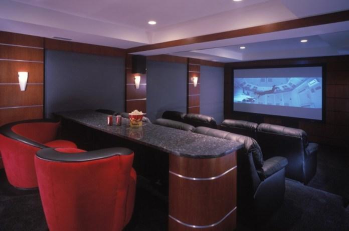 Modern Home Theater On Interior Design Ideas