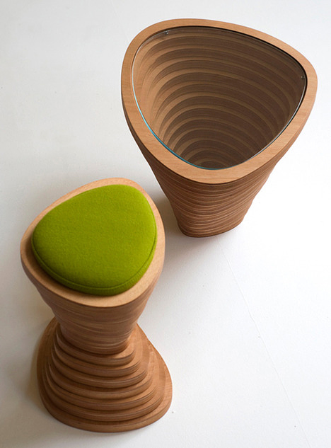 Modern nature-inspired furniture by Janina Loeve