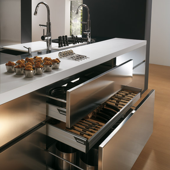 contemporary-Stainless-steel-kitchen-cabinets