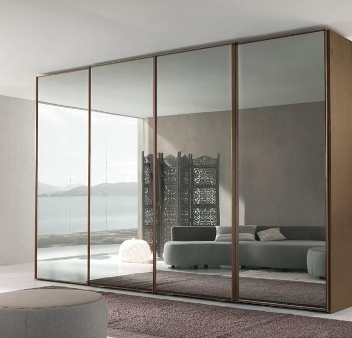 Attractive Master Bedroom Mirror Closet Door Designs Ideas