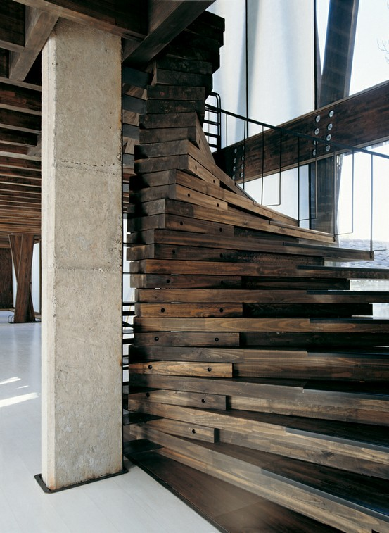 Beautiful Reclaimend Wood Staircase