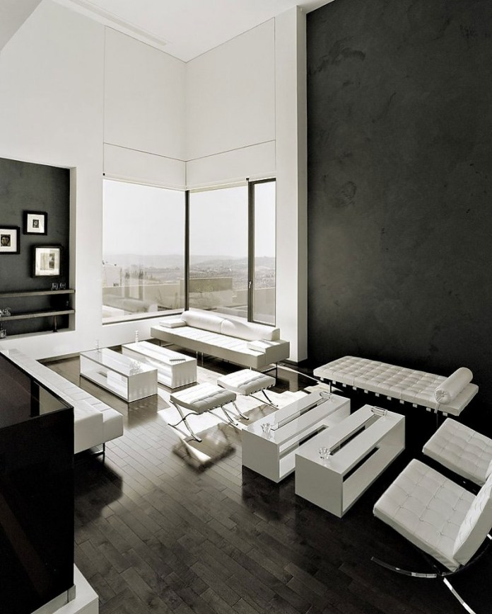 Black-And-White-Living-Room