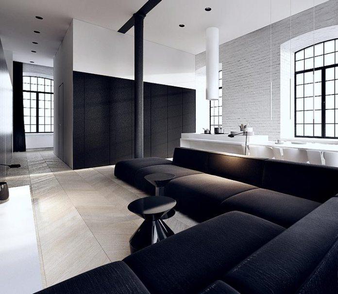 Black-L-shaped-sofa