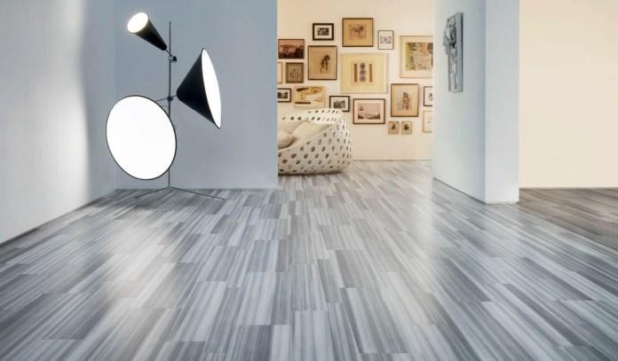 Living Room Grey Floor Tile