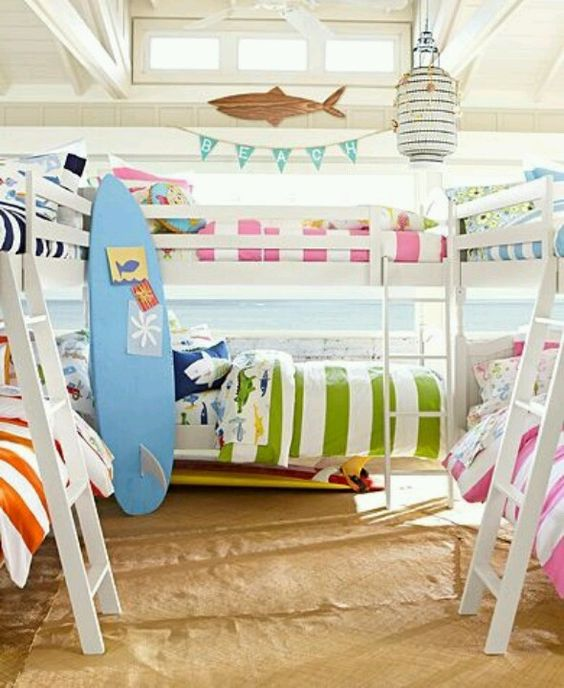 Sleep like you are surfing kids bedroom decor
