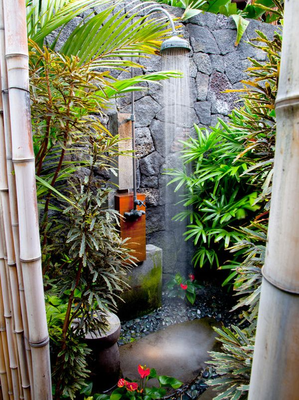 Stone Outdoor Shower