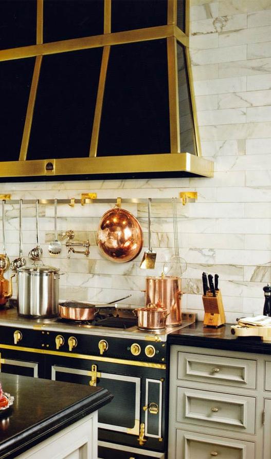 brass kitchen appliances