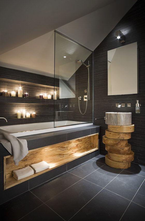 dark toned bathroom