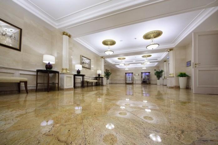 luxurious granite lobby