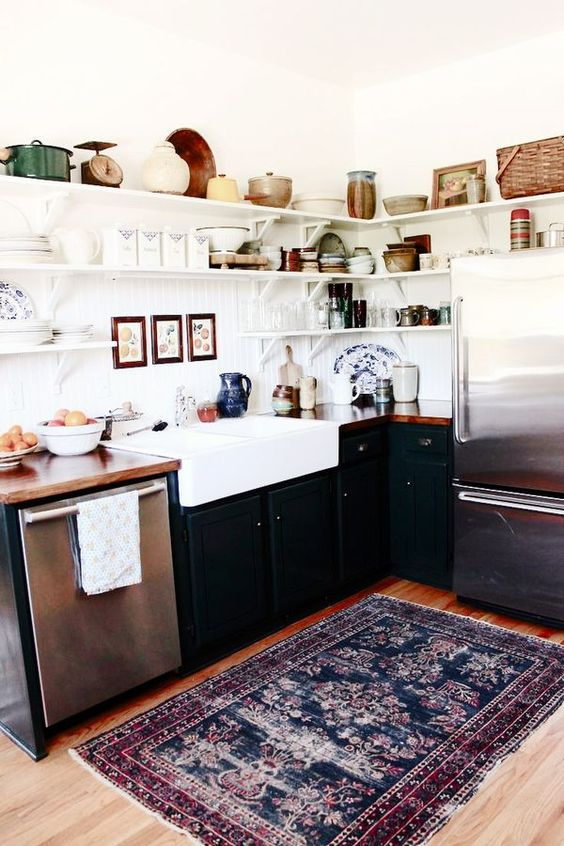 Beautiful kitchen Persian rug in the kitchen