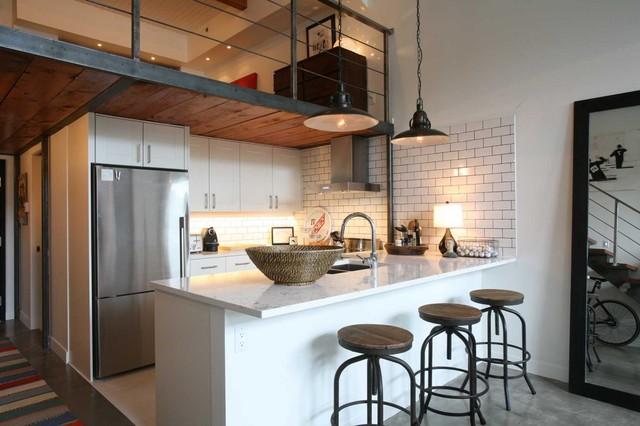 Loft appartment industrial-kitchen