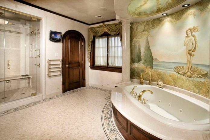 Mediterranean Bathroom Wall Painting Designs