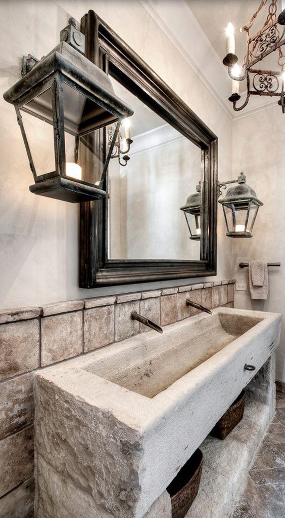 Mediterranean Bathroom with tuscan style decor