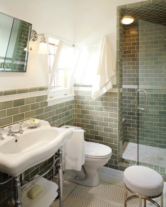 Mediterranean bathroom with ivory walls