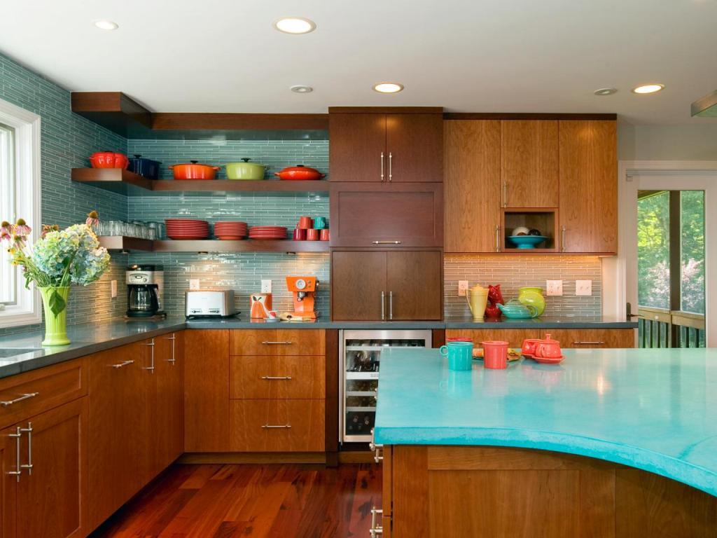 35 Sensational Modern Midcentury Kitchen Designs on Modern Kitchen Counter  id=23835