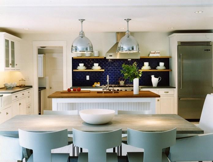 Beach-style-kitchen-with-a-lovely-blue-backsplash