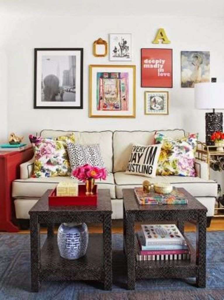Chic Eclectic Living Room