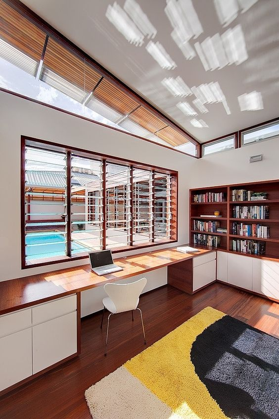 Contemporary Custom Home Office Spaces
